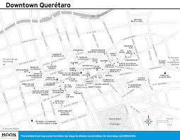 Queretaro Mexico Map by San Miguel De Allende Maps Printable Travel Maps From Moon Guides