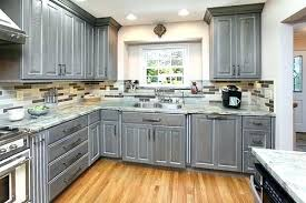 how do you stain kitchen cabinets gray stained kitchen cabinets krowds co