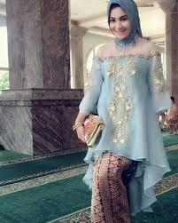 contoh gambar kebaya contoh kebaya muslim brokat modern 2018 fashion muslim modern
