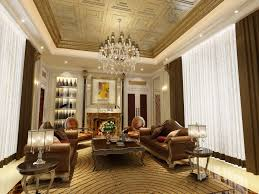 awesome luxury living rooms design with brown white fabric curtain