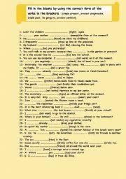 english teaching worksheets verb tenses