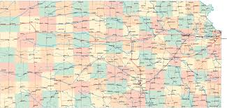 Kansas City Crime Map Large Detailed Highways And Roads Map Of Kansas State Vidiani