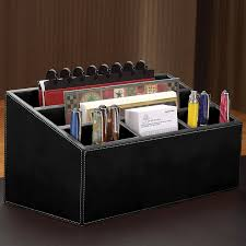 Desk Organizer Leather Unifier Leather Desk Organizer Levenger