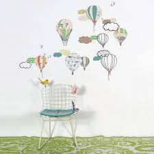 hot air balloon wall stickers room decor for children french hot air balloon wall stickers original room decoration for children mimi lou loading zoom