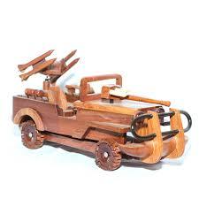 jeep wood box wooden car models handmade mahogany wood car truck model cars