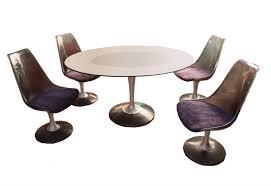 chromcraft smoked glass dining set chairish