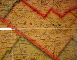 Paper Town Map Ancestor Tracks Philadelphia Area Resources