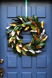 magnolia leaf wreath easy free diy magnolia wreath a of rainbow
