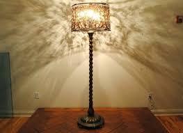 bare light bulb cover floor l 3 light modern tall standard l cream shade rice paper