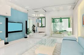 calming blues enhance this space an interior design tribute to