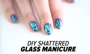 diy shattered glass nail art tutorial beauty junkie youtube