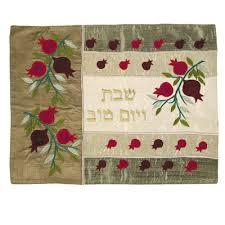 shabbat challah cover pomegranates gold silk shabbat challah cover by yair emanuel