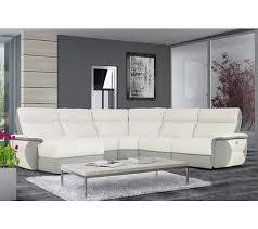 canapé cuir blanc but canapé angle u gauche 1 rlx whitley cuir croûte blanc tissu gris c