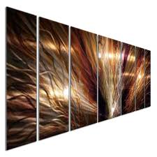 abstract metal wall art large zion by artist ash carl modern home