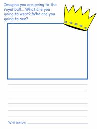 cinderella draw write activities