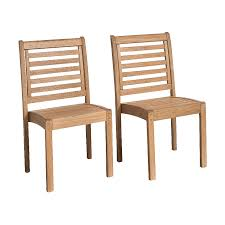 Stackable Dining Room Chairs Shop International Home Amazonia 2 Count Eucalyptus Stackable