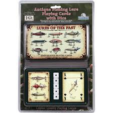 amazon com rivers edge products antique lure playing cards in