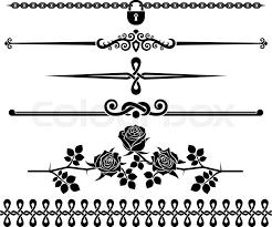 decorative elements roses design elements decorative line