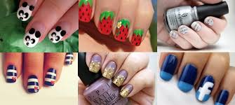 Emejing Easy Cool Nail Designs To Do At Home Ideas Interior - Easy design for nails to do at home