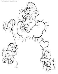 care bears coloring sheet care bear