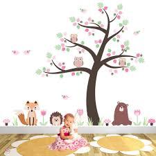 nursery wall art enchanted interiors fox owls and woodland critters nursery wall stickers