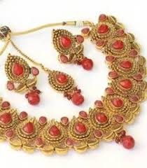 Buy Alankruthi Pearl Necklace Set Beautiful Kundan Pearl Polki Mang Tikka Indian Ethnic Copper Hair