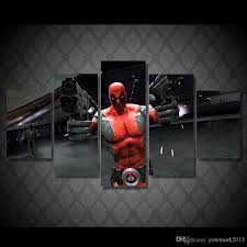 2017 hd printed deadpool guns game painting canvas print room