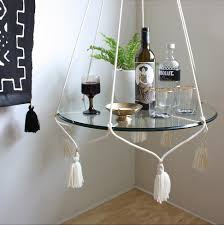 cream cotton hanging table plant hanger with tassels norwegian