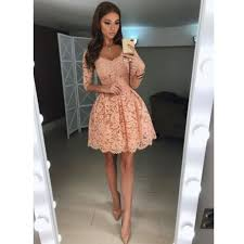 cocktail dress 2018 blush pink lace homecoming dress cocktail dress with 3