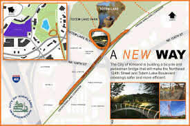 Kirkland Washington Map by Totem Lake Pedestrian Bridge Open House Scheduled For Feb 2