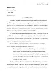 cover letter essay in mla format example an example of an essay in