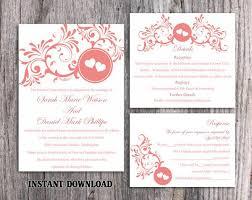Red Wedding Invitations Wedding Invitation Template Download Printable Wedding Invitation