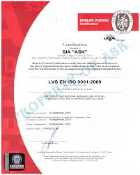 bureau veritas latvia certificates ask enterprise