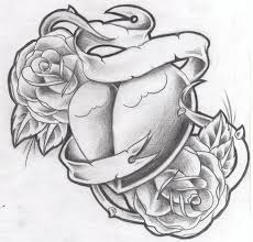 tattoo design new heart nroses by willemxsm on deviantart