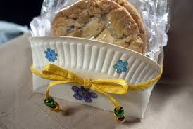 cookie gift basket how to make a paper plate cookie gift basket thriftyfun