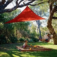 coolaroo all purpose 9 8 ft triangle party shade sail hayneedle