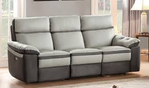Gray Reclining Sofa by Homelegance Otto Power Double Reclining Sofa Top Grain Leather