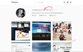 cara membuat akun instagram resmi seperti artis syarat mendapatkan lencana terverifikasi akun instagram riobermano com