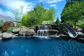 Backyard Pool Ideas Pictures Swimming Pool Landscaping Ideas Inground Pools Nj Design Pictures
