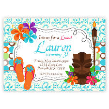 hawaiian themed party invitations free printable invitation design