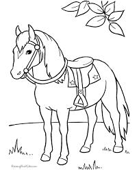coloring picture horse print hop hop hop paardje galop
