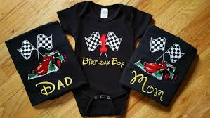 Black Flag Family Race Flag Birthday Number Shirt Any Cars Disney Family Shirt