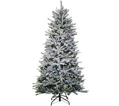 santa s best 7 5 snow flurry tree with 7 function led lights