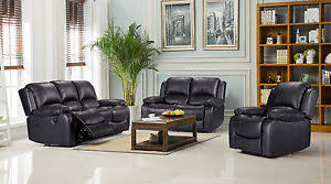 Recliner Sofa Suite New Modern Luxury Valencia Bonded Leather Recliner Sofa Suite 3