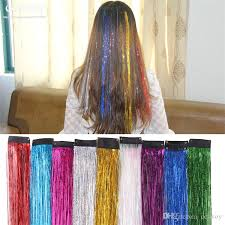 laser hair extensions newest womens clip in on shiny hair extensions laser dazzle