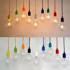 Pendant Light Socket Colorful E27 E26 Silicone Ceiling Lamp Holder Light Socket