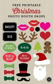 christmas photo booth props free printable christmas photo booth props and signs from elegance