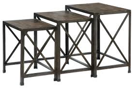 Ashley End Tables And Coffee Table Ashley Signature Design Vennilux Set Of 3 Rustic Metal Wood