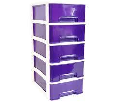 Purple Desk Organizers 5 Drawer Desktop Organizer