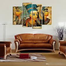 paintings for living room 2017 egyptian pharaoh canvas oil painting for living room painted
